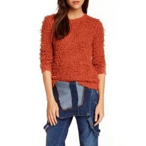 Free People Rust Orange September Song Sweater XS